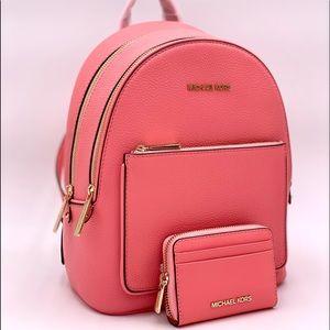 Michael Kors MD Adina Backpack & Card Case Wallet